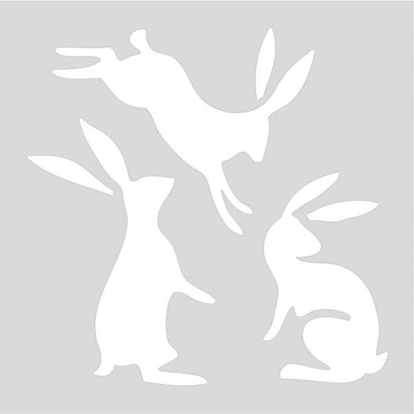 Rico Design Schablone Hasen 7,5x7,5cm selbstklebend