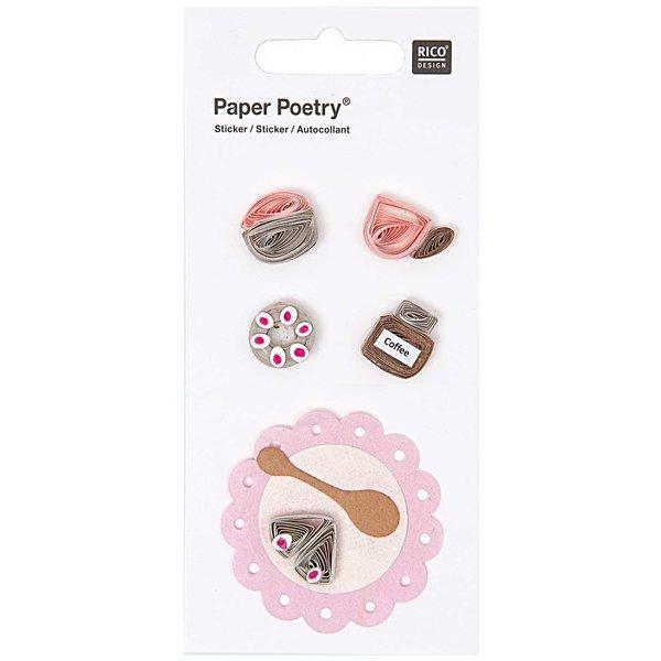 Paper Poetry Quilling Sticker Kaffeeklatsch 2