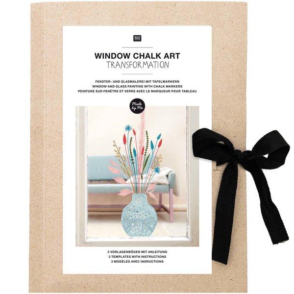 Rico Design Vorlagenmappe Transformation Fenster- und Glasmalerei mit Kreidestiften