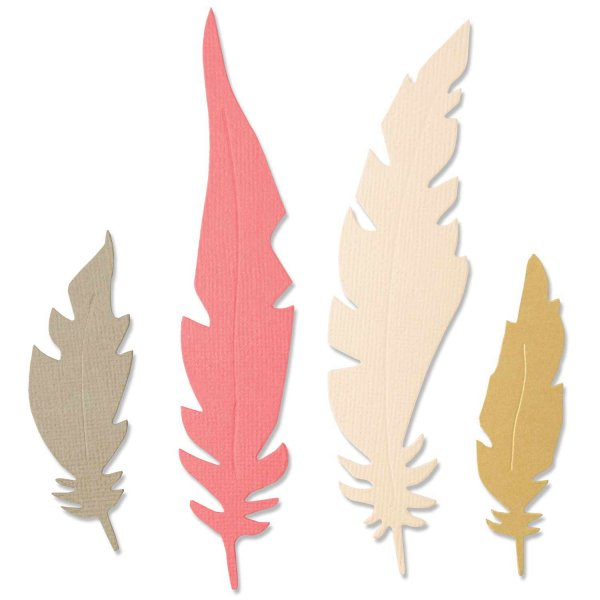 Sizzix Bigz Die Natural Feathers by Jenna Rushforth