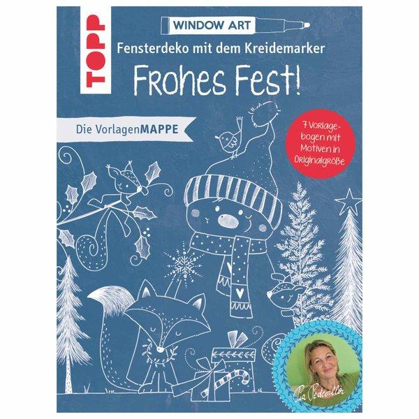 TOPP Vorlagenmappe Fensterdeko mit dem Kreidemarker - Frohes Fest