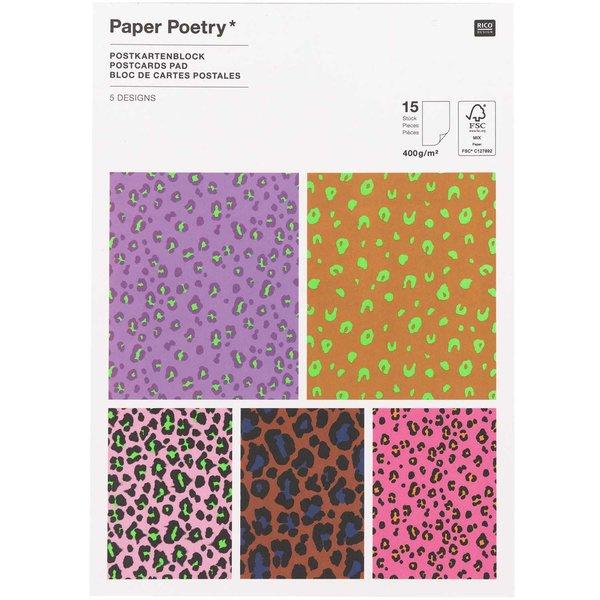 Paper Poetry Postkartenblock Acid Leo 15 Stück