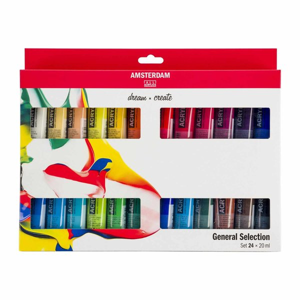 AMSTERDAM Acrylfarbe Set 24x20ml