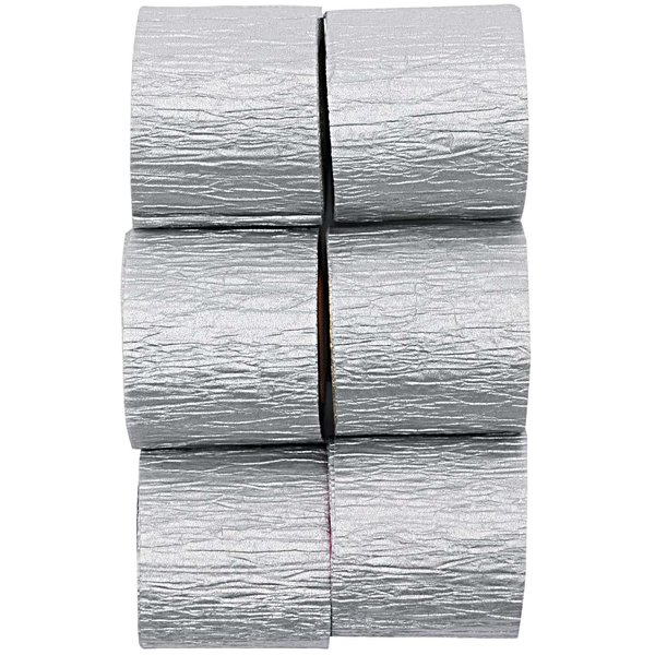 YEY! Let's Party Kreppbänder silber 3,5cm 10m 6 Stück