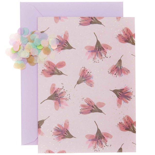 Paper Poetry Grußkartenset Kirschblüten pink