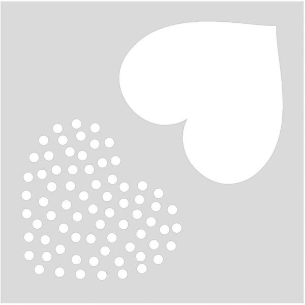 Rico Design Schablone Herzen 7,5x7,5cm selbstklebend