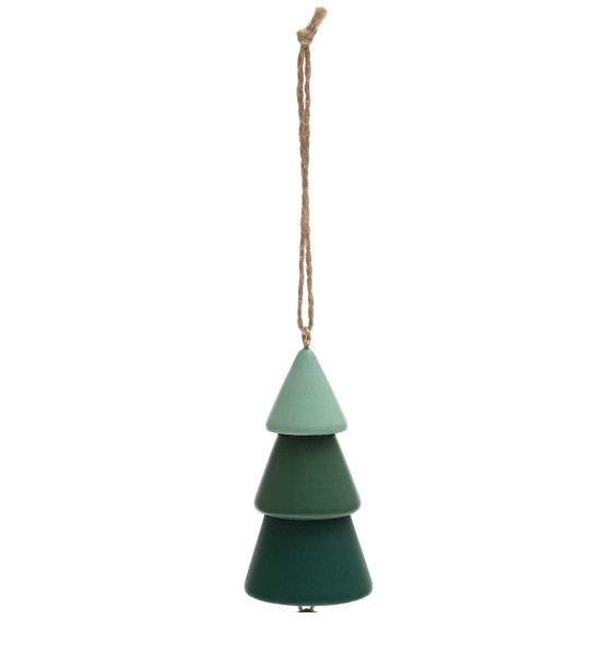 Ohhh! Lovely! Holzhänger Tanne mit Glocke grün 4x9,5cm