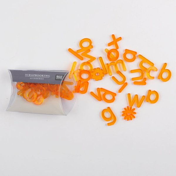 Rico Design Scrapbooking Acryl ABC orange 45teilig
