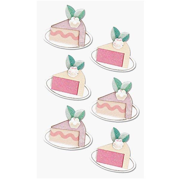Paper Poetry 3D Sticker Kuchenstücke