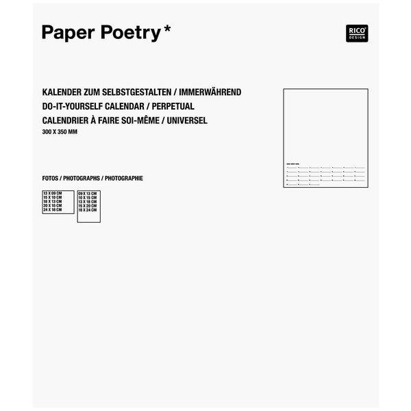 Paper Poetry Bastelkalender immerwährend weiß 30x35cm