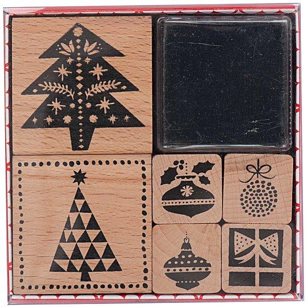 Paper Poetry Stempelset Tannenbäume 6 Stück