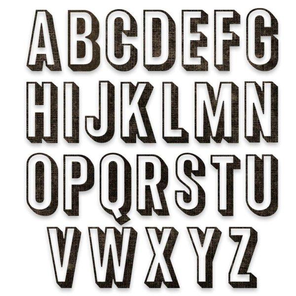 Sizzix Thinlits Die Set Alphanumeric Shadow Upper