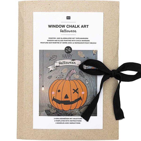 Rico Design Vorlagenmappe Fenster- und Glasmalerei mit Kreidestiften Halloween