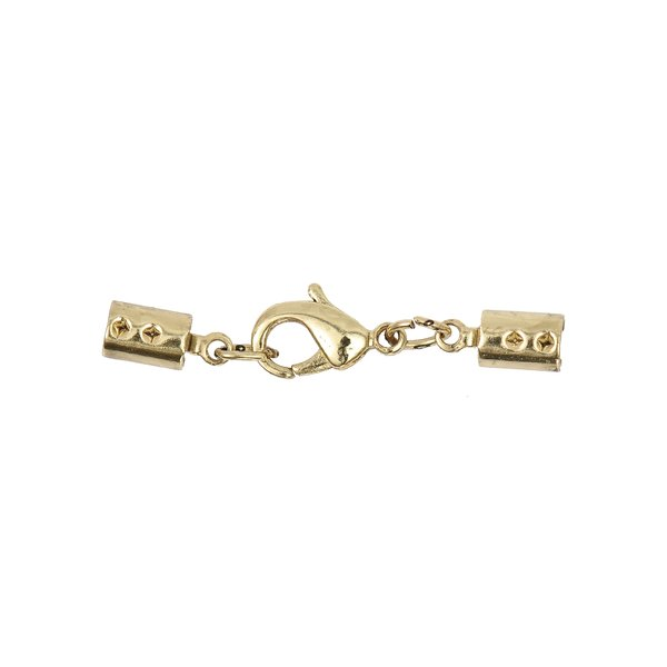 Jewellery Made by Me Lederbandverschluss gold 3mm