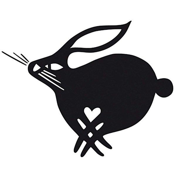 Rico Design Stempel Hase mit Herz 4x4cm