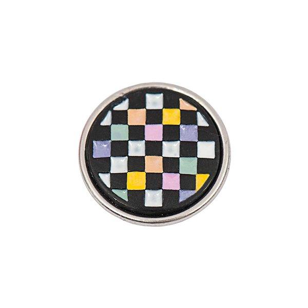 Rico Design Knopf Vierecke mehrfarbig-pastell 14mm