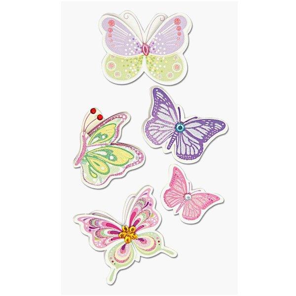 Paper Poetry 3D Sticker Schmetterlinge mehrfarbig