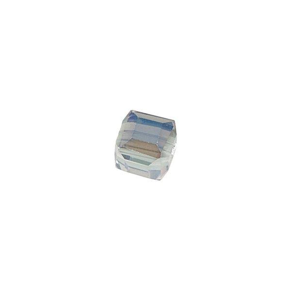 Jewellery Made by Me Würfel geschliffen transparent irisierend 6x6mm Glas 10 Stück