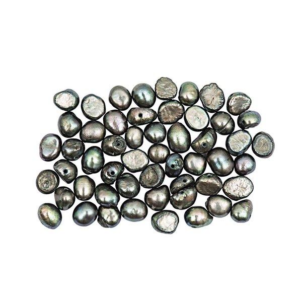Rico Design Frischwasserperlen grau ca. 35 Stück