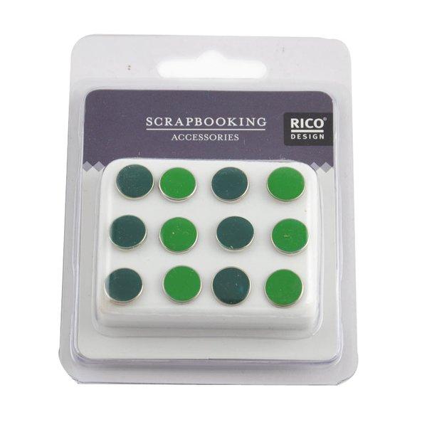 Rico Design Scrapbooking Nieten emailliert grün 12 Stück
