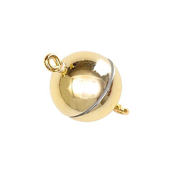 Jewellery Made by Me Magnetverschluß rund gold glänzend 12mm