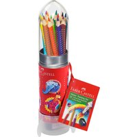 Faber Castell Colour Grip Mal Set Rakete 15 Farben