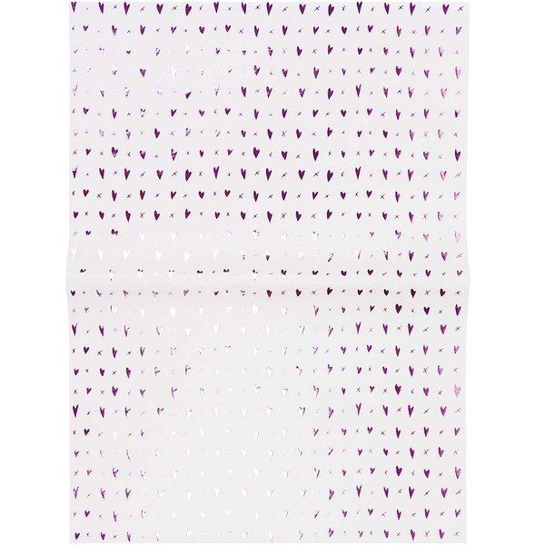 Paper Poetry Paper Patch Papier Herzen rosa 30x42cm Hot Foil