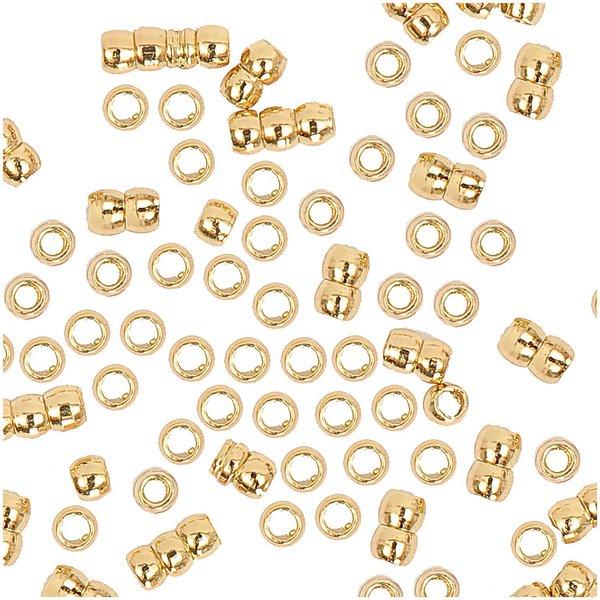 Jewellery Made by Me QuetschPerle gold 1,5mm 100 Stück