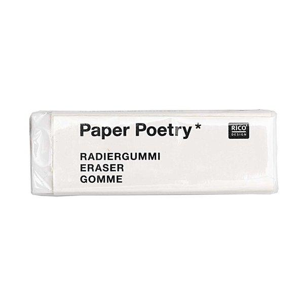 Paper Poetry Radiergummi weiß 4,5x1,5cm