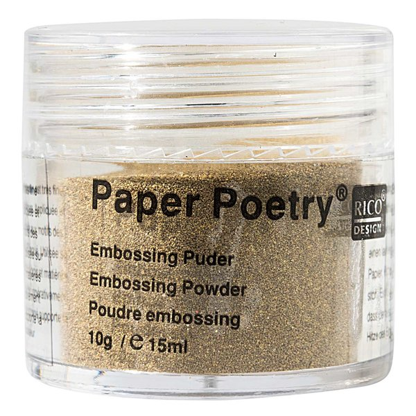 Paper Poetry Embossingpuder gold matt 10g