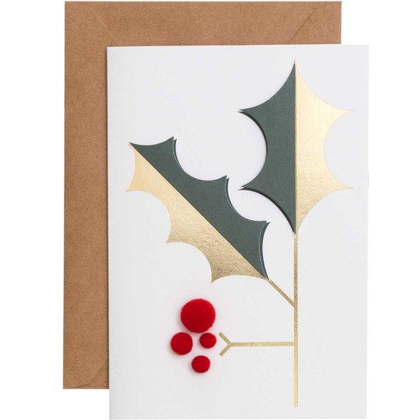 Paper Poetry 3D-Karte Mistelzweig B6