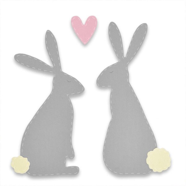 Sizzix Bigz Die Spring Hares by Sophie Guilar Stanzschablone