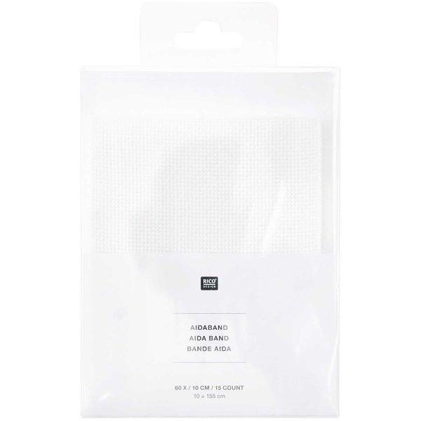 Rico Design Aidaband weiß 10x155cm zum Besticken