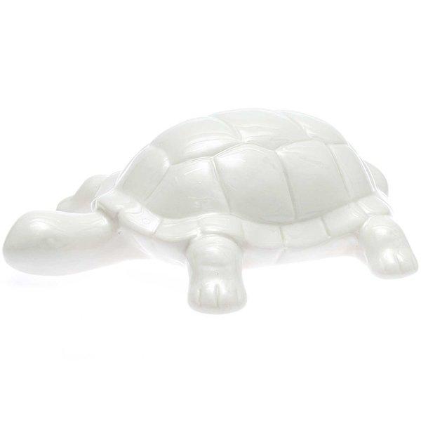 Porzellan-Schildkröte weiß 16,5cm