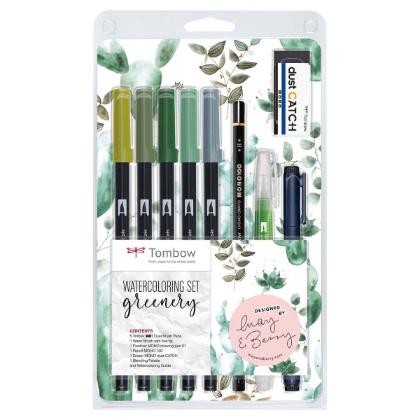 Tombow Watercoloring Set Greenery by May & Berry