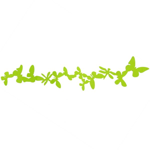 Schmetterlingsgirlande aus Filz grün 1m