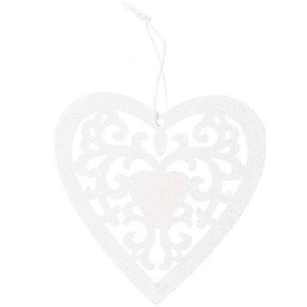 Ohhh! Lovely! Holzhänger Herz Ornament L weiß