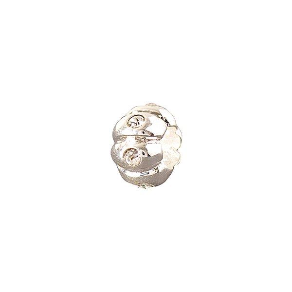 Rico Design Strassrondell weiß 11x7mm
