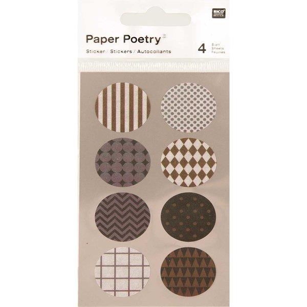 Paper Poetry Washi Sticker silber-gold 4 Bogen
