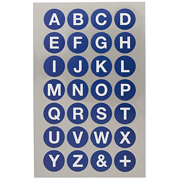 Paper Poetry Office Sticker Punkte blau mit Alphabet 18mm 4 Bogen