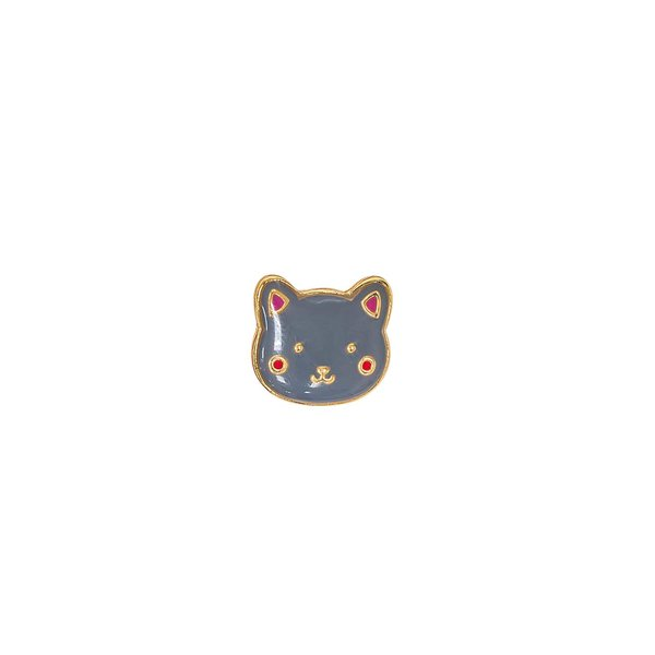 Jewellery Made by Me Pin Katze 13x12mm