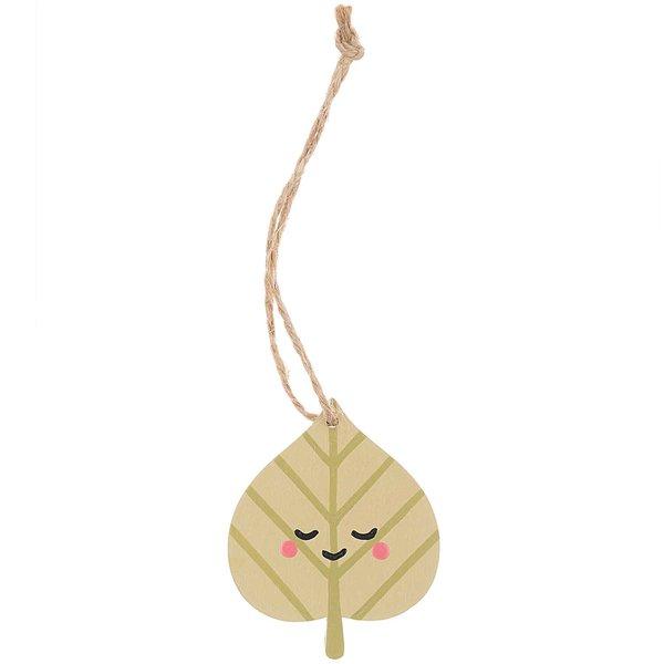 Ohhh! Lovely! Holzanhänger Herbstblatt grün 5,7x7cm