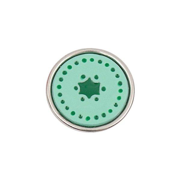 Rico Design Knopf Punkte grün 14mm