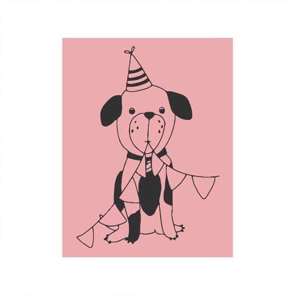 May&Berry Stempel Hund rosa 35x45mm