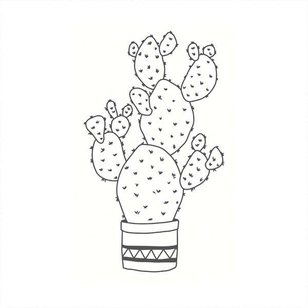 May&Berry Stempel Kaktus weiß 35x55mm