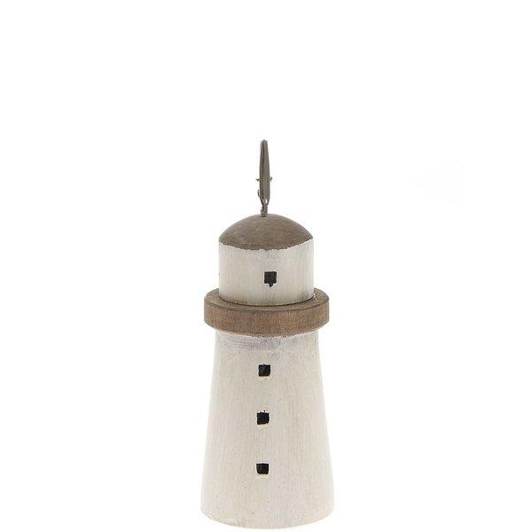 Ohhh! Lovely! Kartenhalter Leuchtturm weiß Holz 6,5x14cm