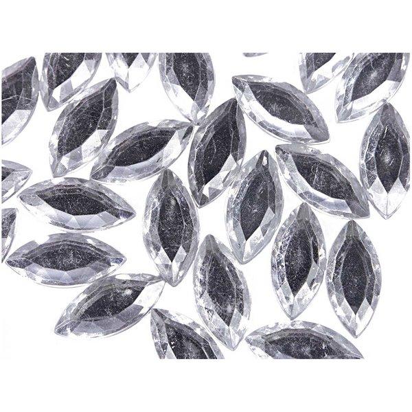 Rico Design Strass Blätter transparent ca. 50 Stück