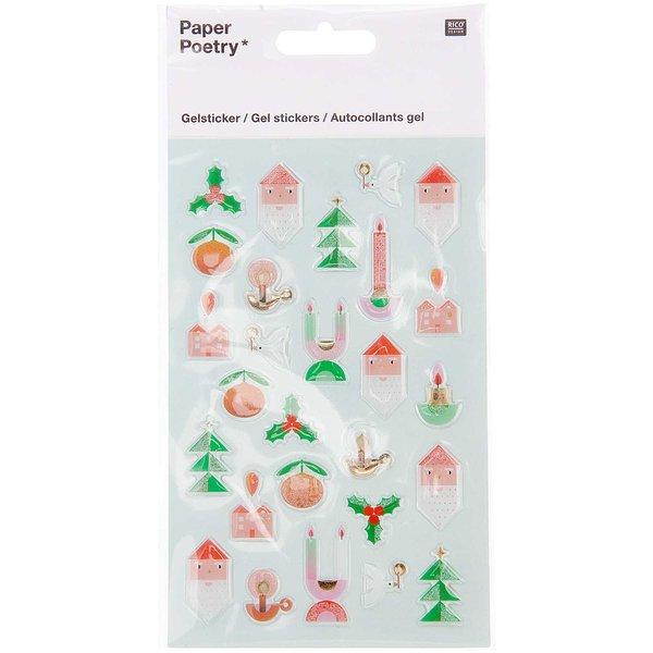 Paper Poetry Gelsticker Weihnachtsfiguren 1 Blatt