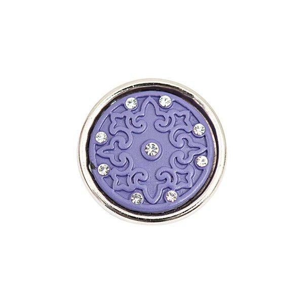 Rico Design Knopf Ornament lila 14mm