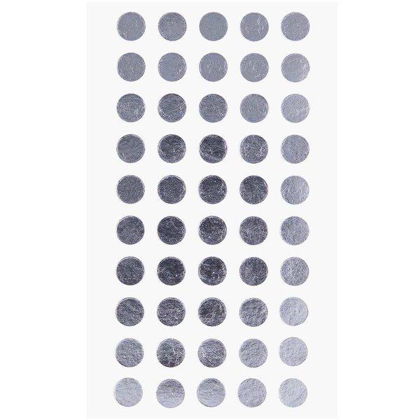 Paper Poetry Sticker Punkte silber 8mm 4 Bogen